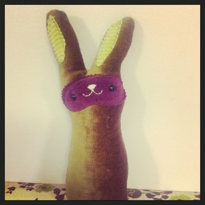 Sewing the face upside down made my bunny look like a bandit