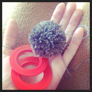 Not my favourite way to make pompoms