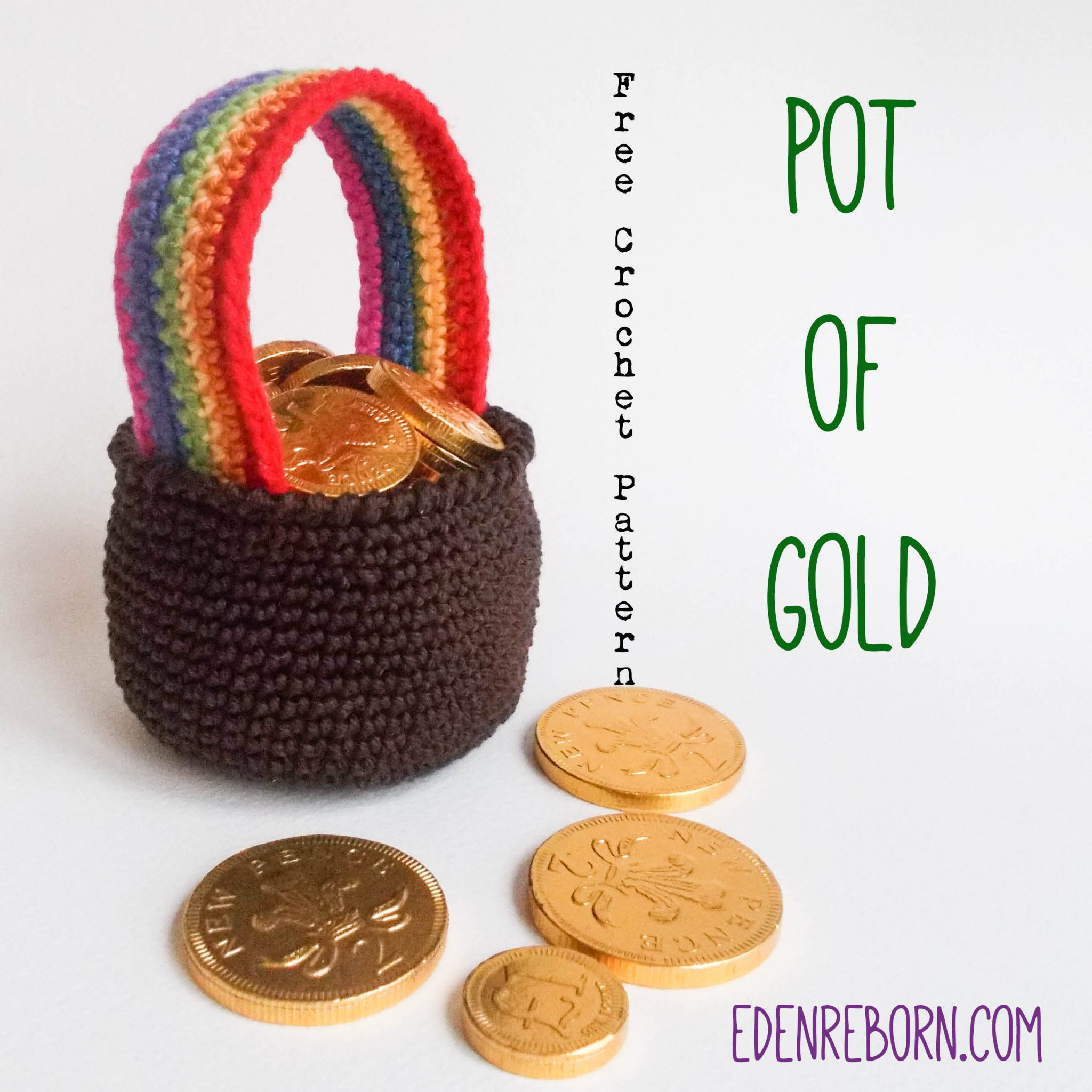 Pot of Gold – St Patrick's Day Free Crochet Pattern